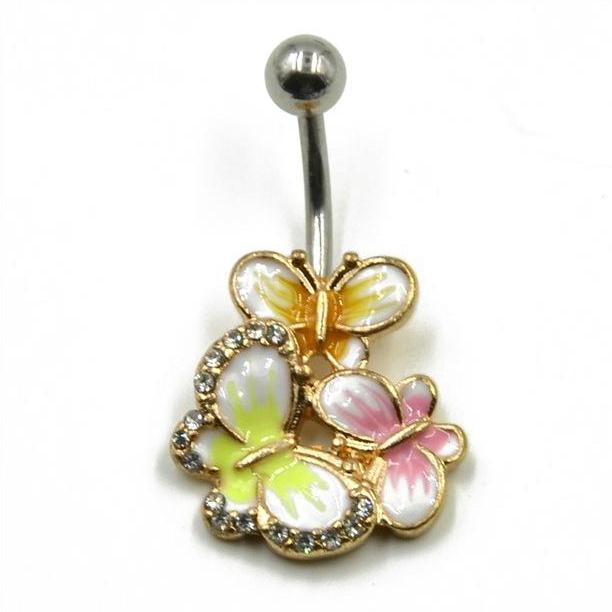 Butterfly Reunion Belly Button Ring