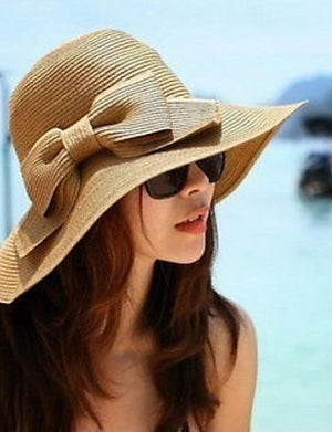 Vintage Hair Claw Sun Hat