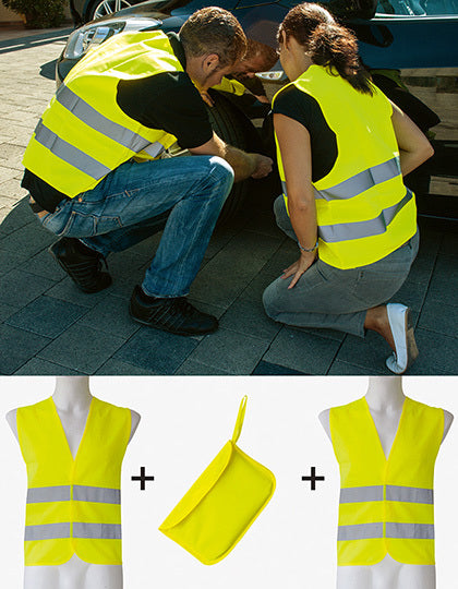 Car Safety Vest Double Pack EN ISO 20471 - outdoorchamp.de
