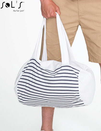 Striped Jersey Duffel Bag Sunset- outdoorchamp