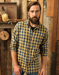 Mens Mulligan Check Cotton Long Sleeve Shirt- outdoorchamp