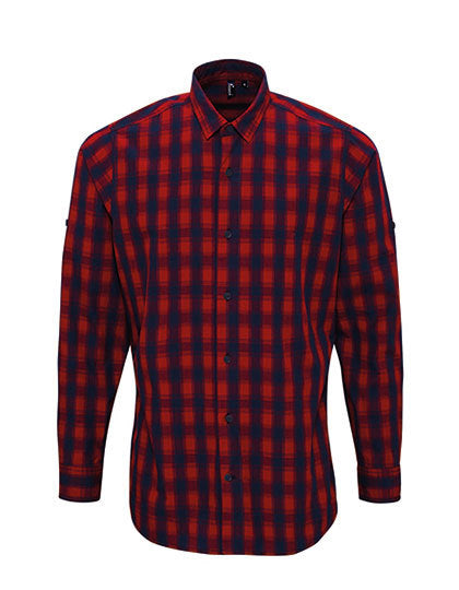Mens Mulligan Check Cotton Long Sleeve Shirt