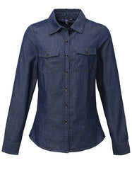 Ladies Jeans Stitch Denim Shirt