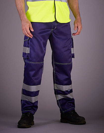 High Visibility Cargo Trousers with Knee Pad Pockets - outdoorchamp.de