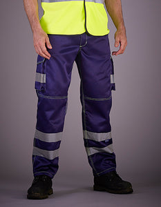 High Visibility Cargo Trousers with Knee Pad Pockets- outdoorchamp