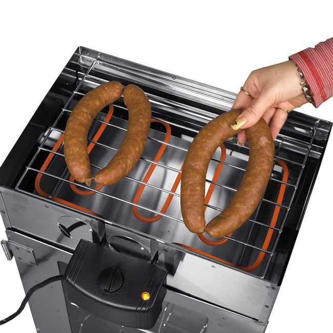 Set Grill-Räucherofen verchromt - outdoorchamp.de