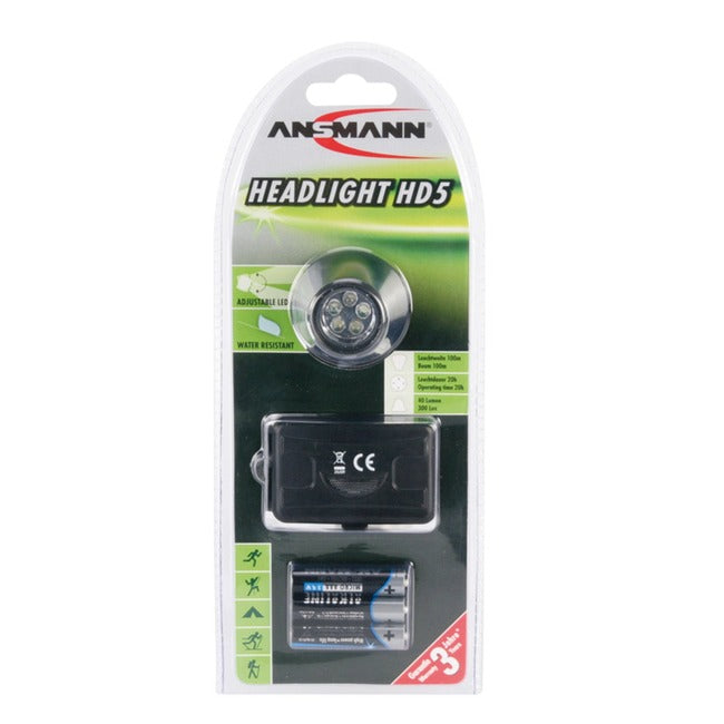 Ansmann, Stirnlampe Headlight HD5 LED - outdoorchamp.de