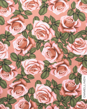 Stretch college, Roses - light pink