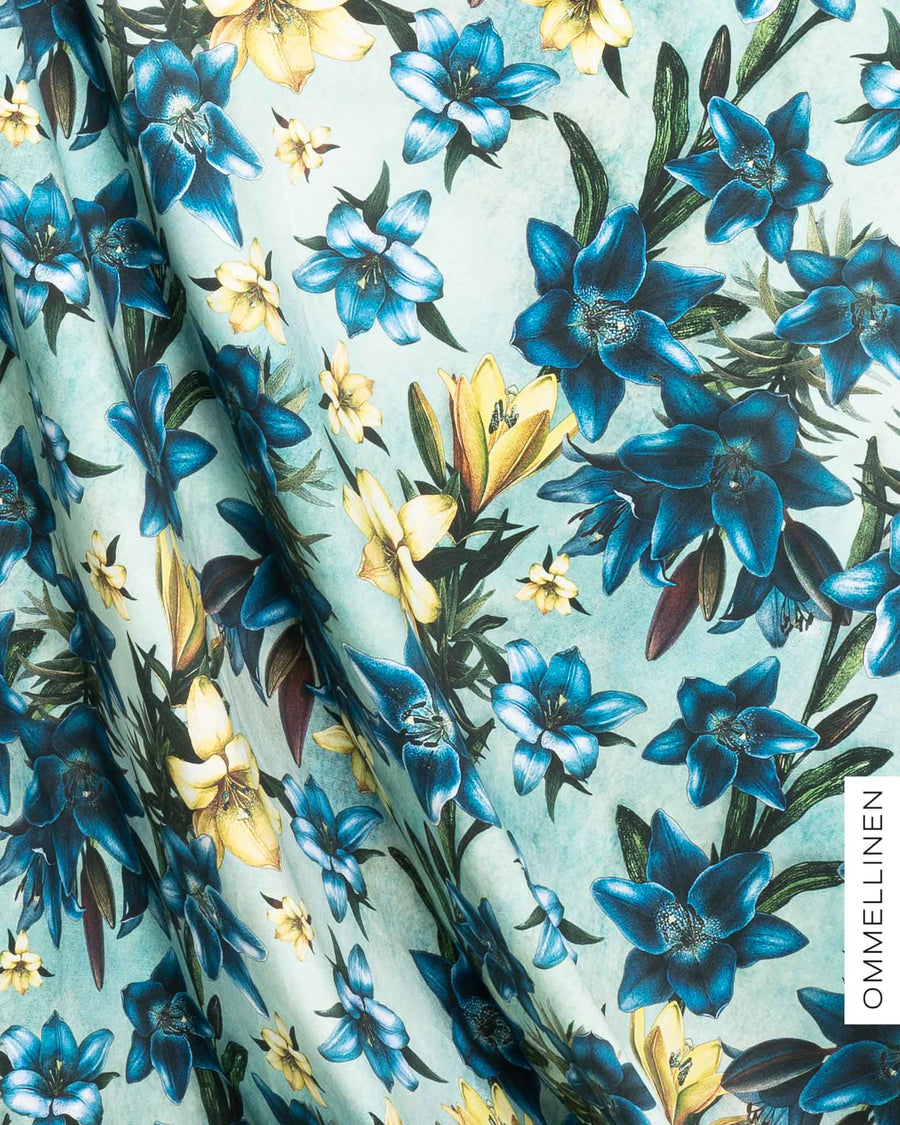 Jersey, Blooming lilies - blue