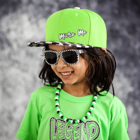 Checkboard Sunglasses for kids Black White Checkers