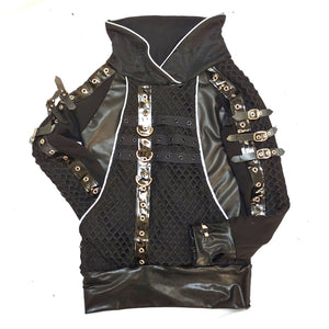 Edward Jacket Black Vegan Leather Halloween Costume Cosplay