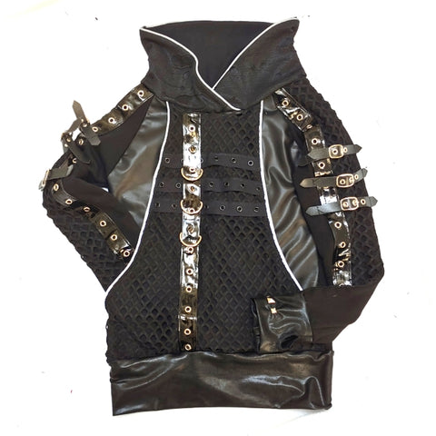Edward Jacket Black Vegan Leather Unisex Top
