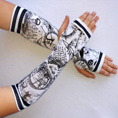 Nightmare Jack  Arm Warmers Fingerless Gloves