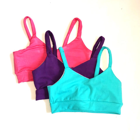 Solid Color Bralette For Girls Sports Bra