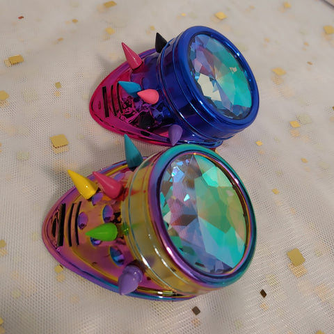 Rainbow Pride Monocles with  Kaleidoscope Lens