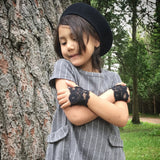 Black Lace fingerless gloves for Girls