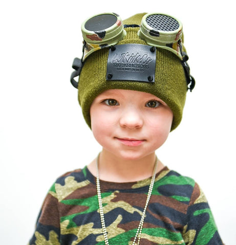 Camo Goggles Steampunk Eyewear Kids Adults