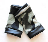 Camo Fingerless Gloves Camoflage Gear kids Adults