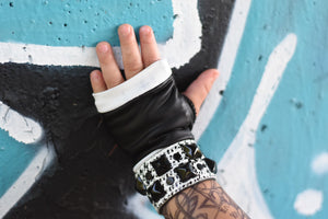 Monochrome Biker Gloves for Kids and Adults