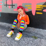 Rainbow Kids Stripe Leg Warmers or Socks Pride