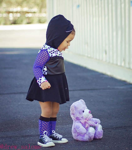 Purple Mesh Knee High Socks Baby Toddler Girl