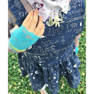 Girl's Blue Lace Gloves