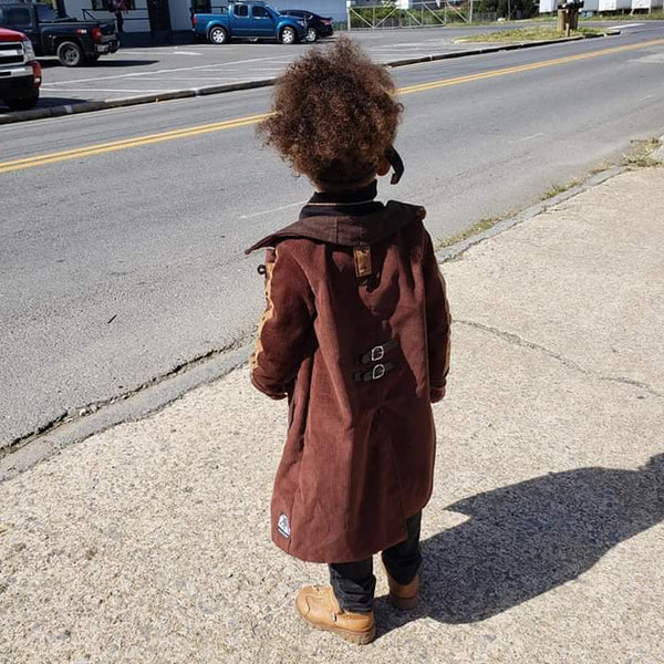 Steampunk Custom Trench Coat for Toddlers Kids Boys Girls