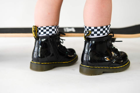 Checkered Crew Socks for boys and girls