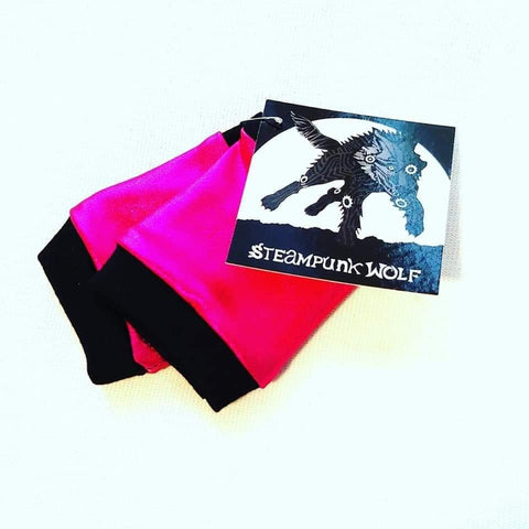 Hot Pink Rockstar Fingerless Gloves for Kids and Adults