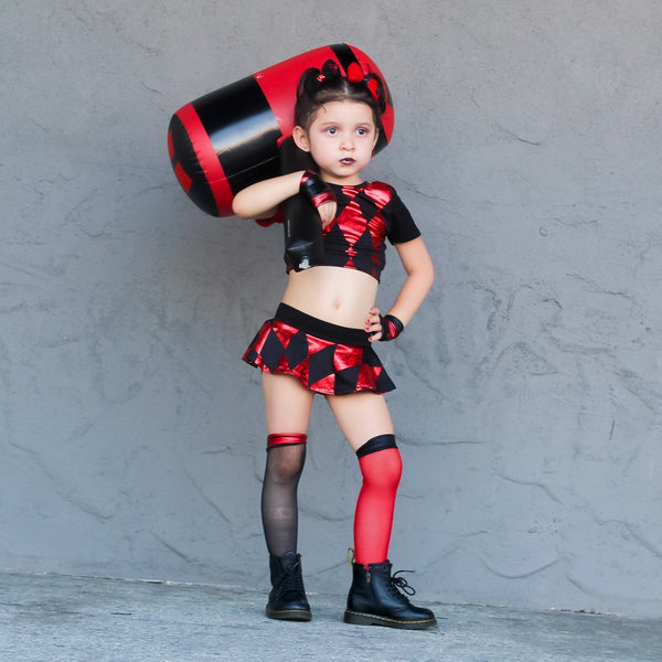 Harley Red Black Knee High Socks Baby Toddler Girl