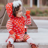 Candy Cane Knee Socks Kids Red White Stripes and Mesh