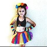 Rainbow Pride Striped Arm Warmers Gloves Unisex Kids and Adults