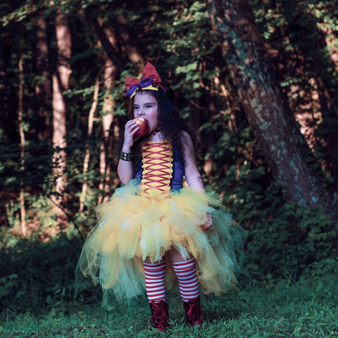 Snow White Corset Tutu Topper Halloween Costume Girls