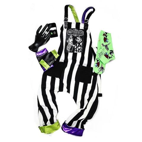 Beetlejuice Rockstar Gloves black lime green purple boys girls Halloween