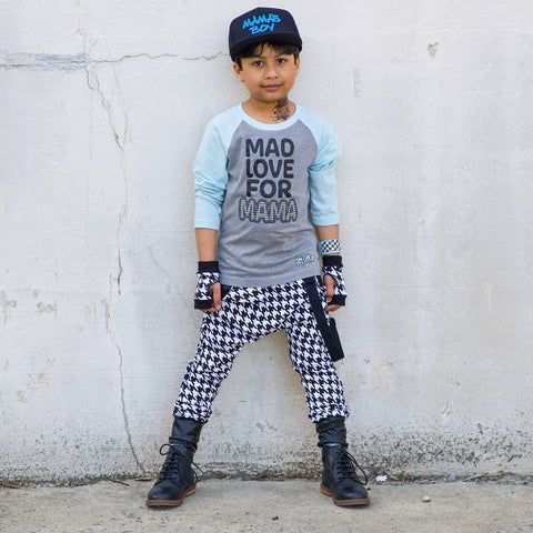 Hipster Houndstooth Harem Joggers for boys and girls