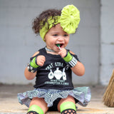 Lime Green Rockstar Fingerless Gloves for Kids and Adults