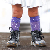 Purple Bling Knee High Socks Baby Toddler Girl