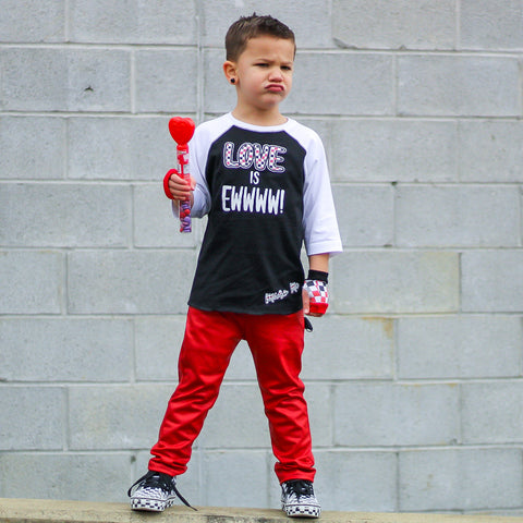 Red MJ Pants for kids unisex v1egan leather