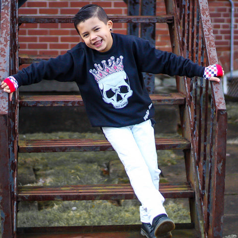 White MJ Pants for kids unisex vegan leather