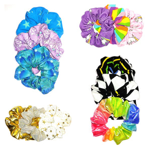 Scrunchies for Smiles Unicorn Rainbow Mermaid Stars