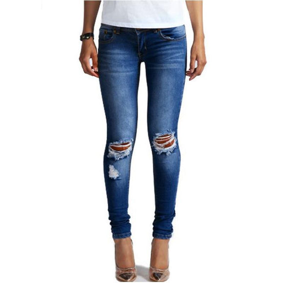 'Lolita' Ripped Knees Skinny Jeans
