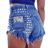 'Pepper' Ripped High Waisted Denim Shorts