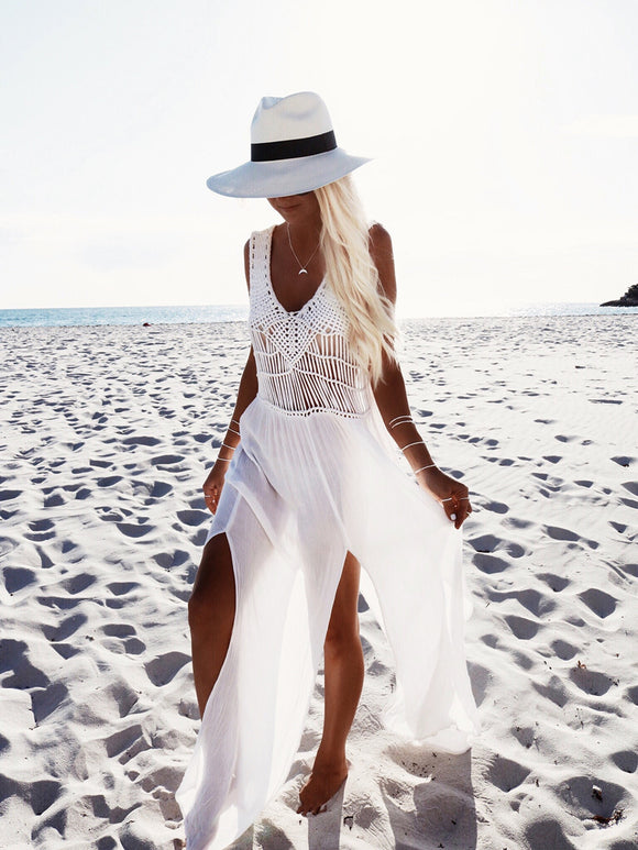 'Heavenly' White Beach Dress