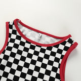 'Checkers' Tank/Crop Top