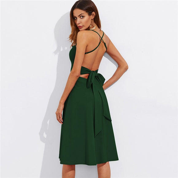'Angelique'  Crisscross Belted Back Dress