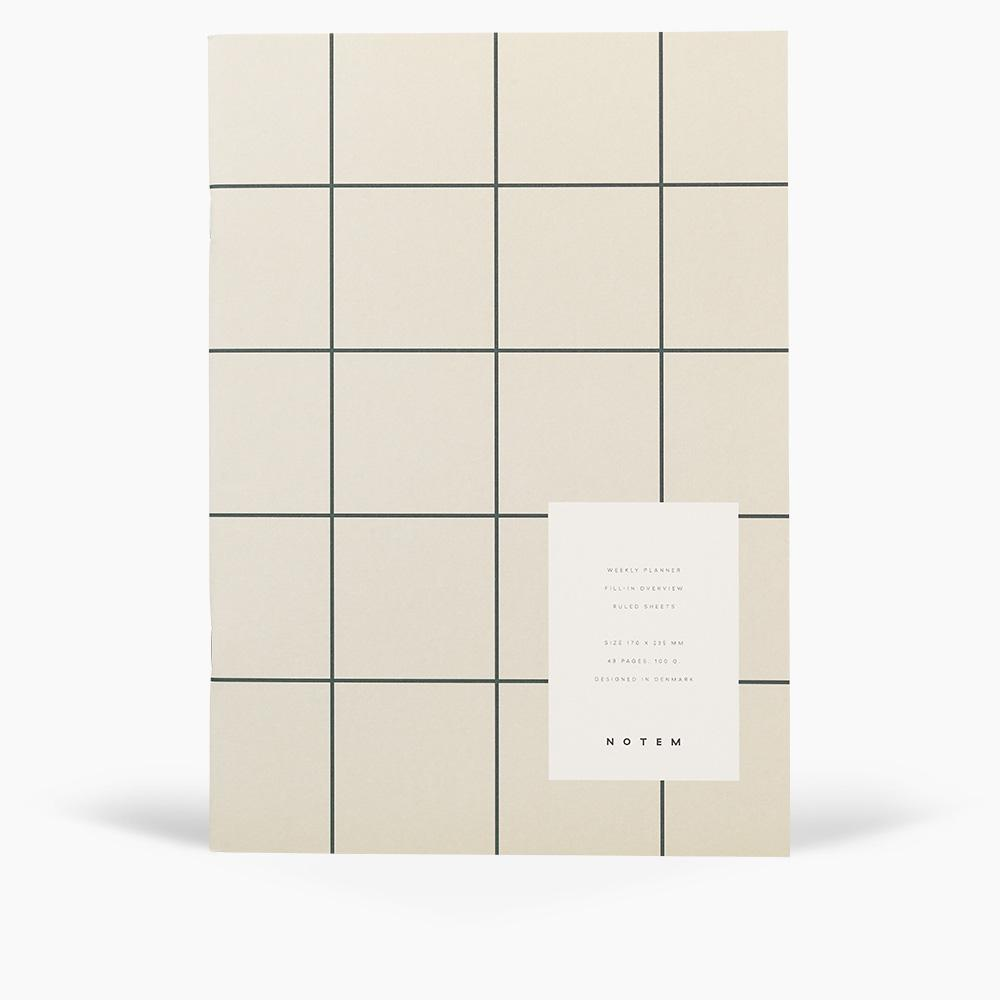 MILO Weekly Planner Book - Light Gray
