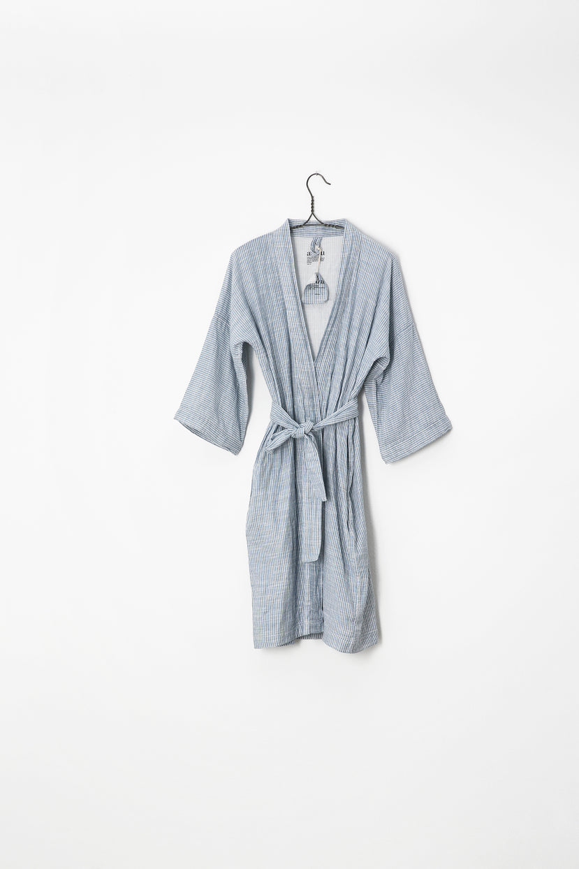 Bathrobe Striped, Indigo