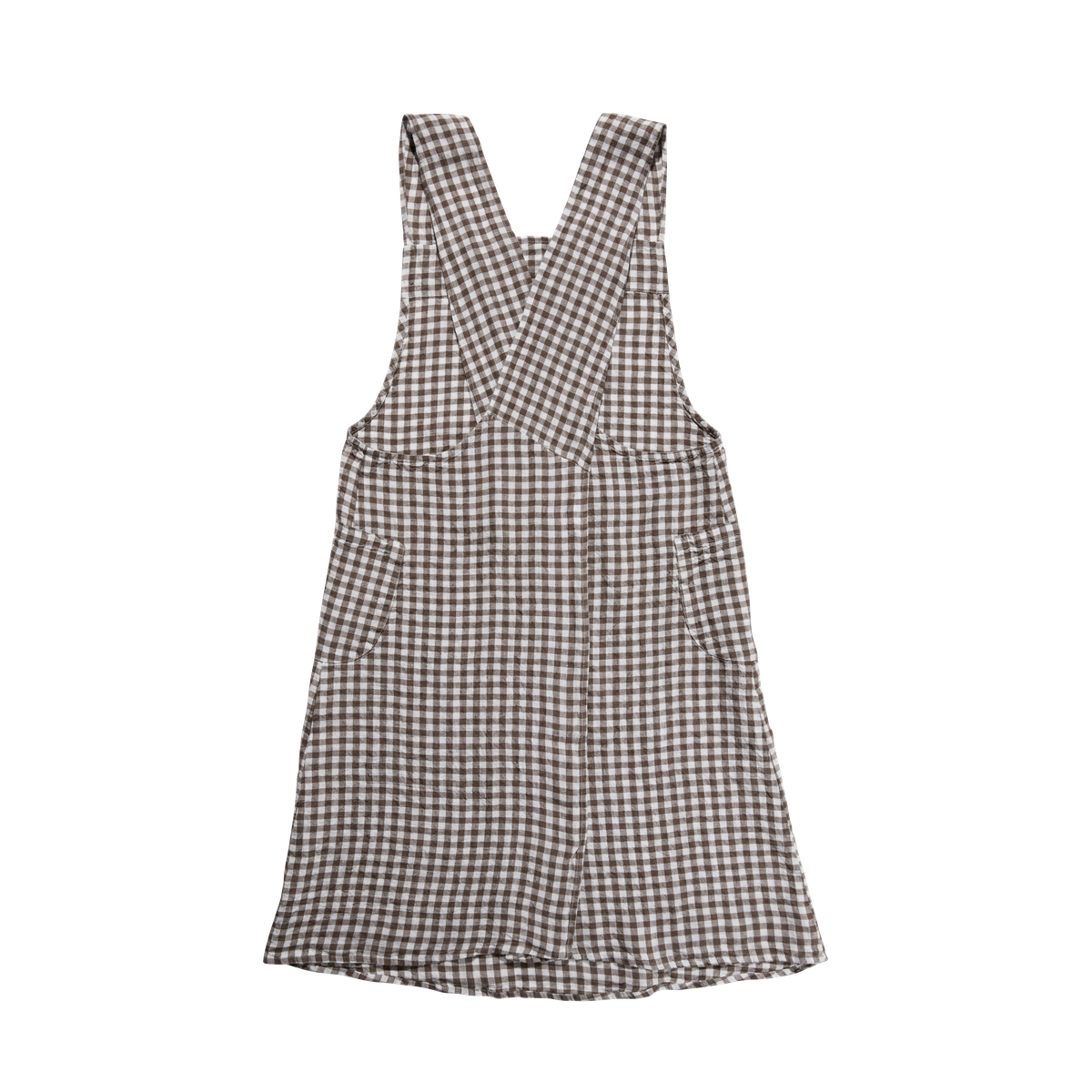 Japanese Apron, Brown Gingham