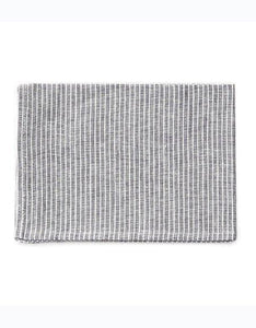 Linen Kitchen Cloth - Grey White Stripes
