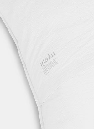 Duvet Cover Seersucker, White